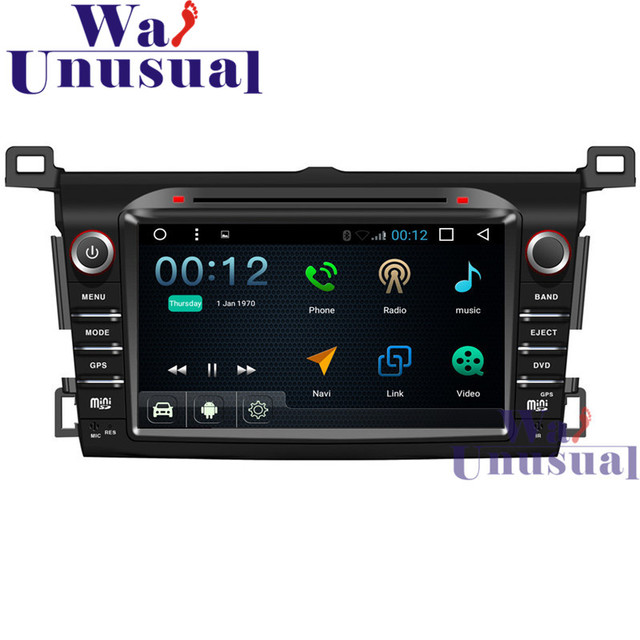 """WANUSUAL 8""""Android 6.0 Car DVD Player Radio Stereo For Toyota RAV4 2014 with GPS Navi Wifi BT Quad Core16G TV 3G 1024*600 Maps"""