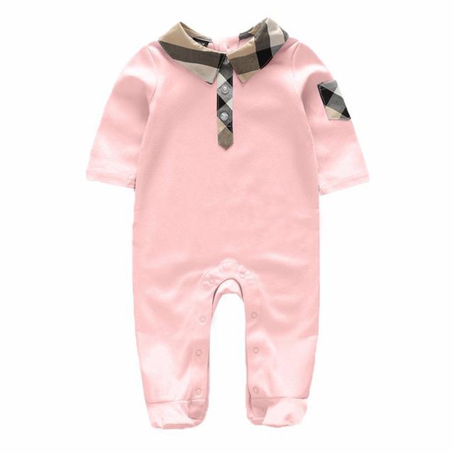 Niños ropa de bebé del mameluco de 2017 de invierno de algodón Blanco manga Mameluco Y sombrero juego infantil de la ropa del bebé recién nacido overoles