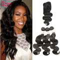 Malaysian Hair Products With Closure 3Bundle Malaysian Body Wave With Closure Cheap Hair Bundles With Lace Closure 7A Human Hair