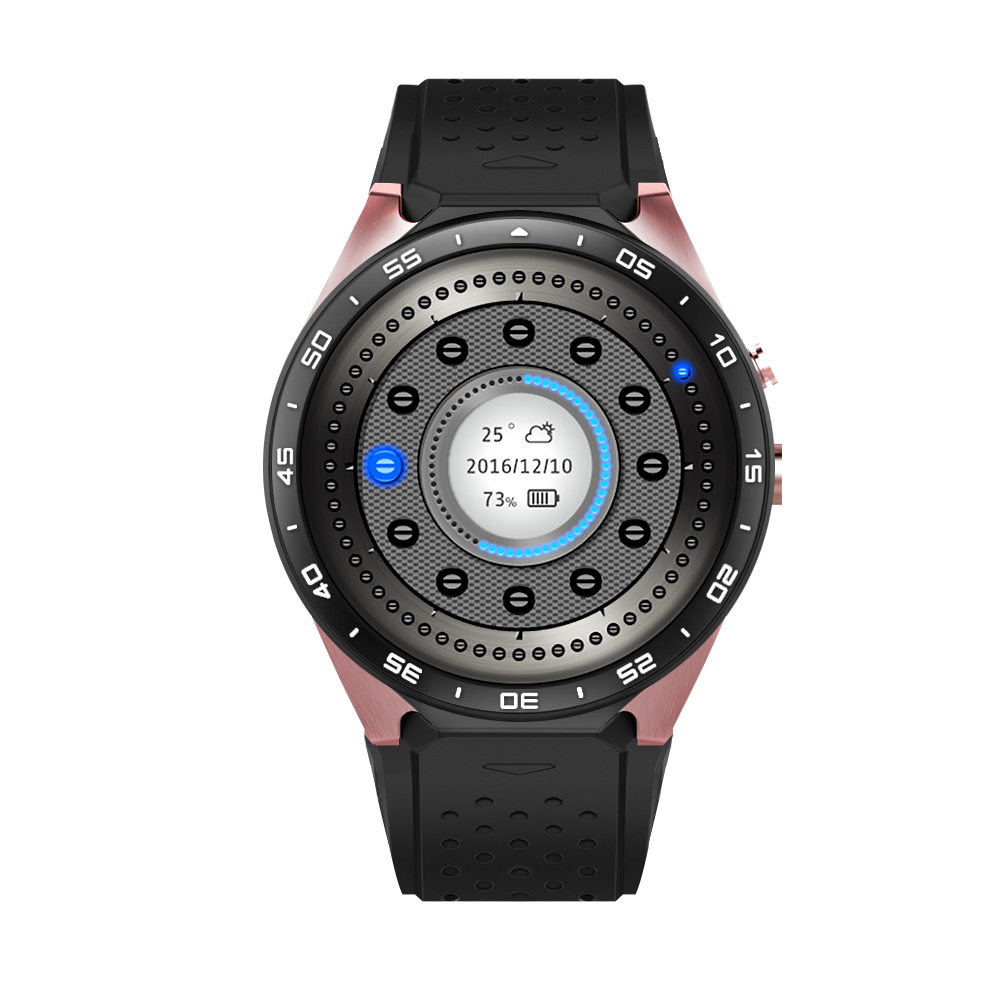 Hot Koop KW88 Smart horloge Android 5.1 MTK6580 CPU 1.39 inch 3G Wifi Smartwatch voor Samsung Huawei Telefoon Horloge PK GT88 KW - 3