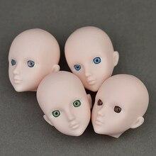 Кукла Аксессуар, Практика Макияж Головы Куклы Оригинальный 3D Глаз СИНЬИ куклы Голову Для Barbie Для 1/6 BJD Куклы Практикующих Макияж глава