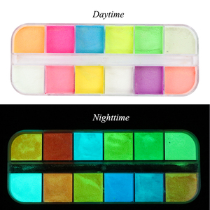 Image 3 - 12 color/Set Fluorescence Nail Glitter Powder Light Luminous Ultrafine Glowing in The Dark Pigment Neon Phosphor Nail Dust TRYS
