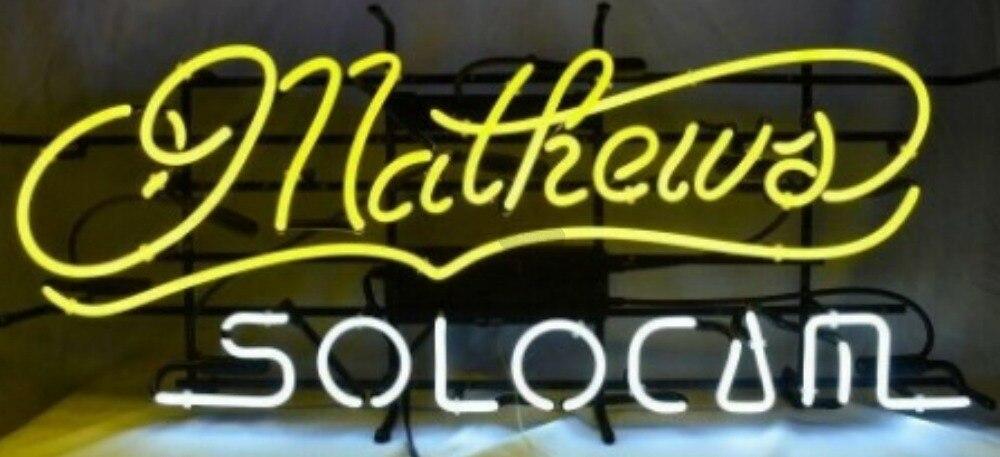 Mathews personnalisé SoloCam verre néon signe barre de bière