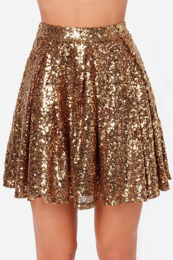 Bling Skirts Harajuku Women Golden Sequin Skirt Casual Print Sequined Japanese Fashion Clothing Girls Streetwear 80s Costumes