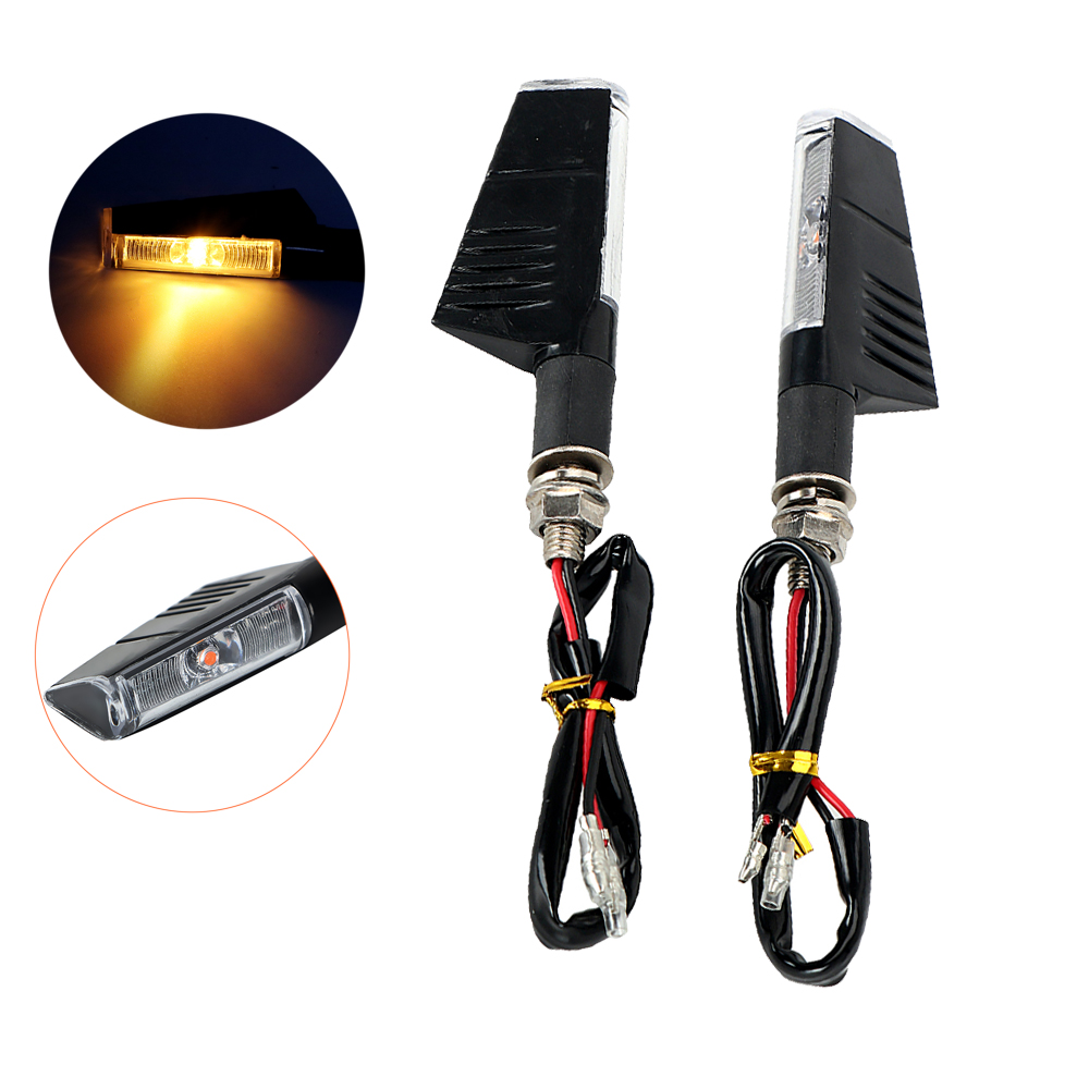 2PCS LED Motorcycle Flasher Turn Signal Light Amber Lamp Moto Turn Indicators Scrooter Refit DC 12V Replacement Bulb