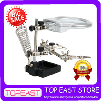 New Led Light Third Hand Soldering Iron Stand Helping Clamp Magnifying Auxiliary Clip Magnifier Welding Repair