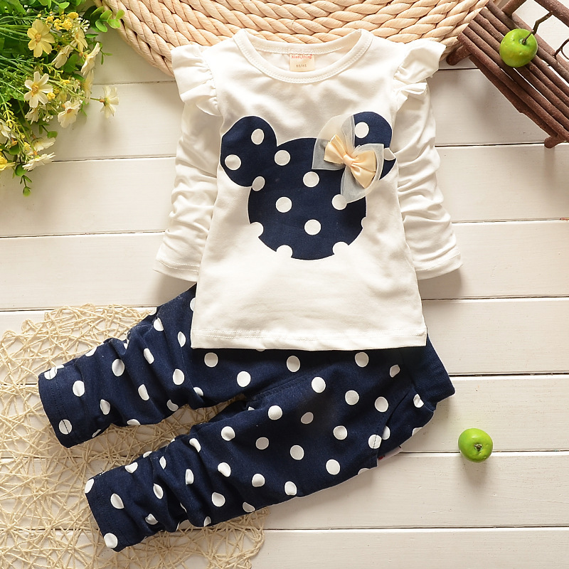 2017 New kids clothes girl baby long rabbit sleeve cotton ...