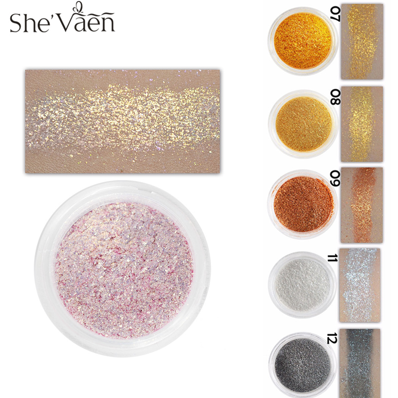Loose Diamond Eyeshadow Pigment Eye Shadow Palette Make Up Vattentät Shimmer Powder Pigment