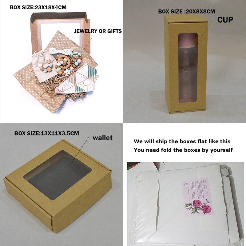 Image 3 - 20pcs White Custom Cardboard Box For Gift Packaging Big Carton Boxes Black Brown Paper Large Sizes Kraft Packing Box With Windowkraft packkraft boxkraft paper box -