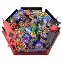 Spin Tops Burst Toys Stadium Arena Disk Spin Tops Bayblade Metal Fusion Blades Toys With Launcher And Handle With Arena