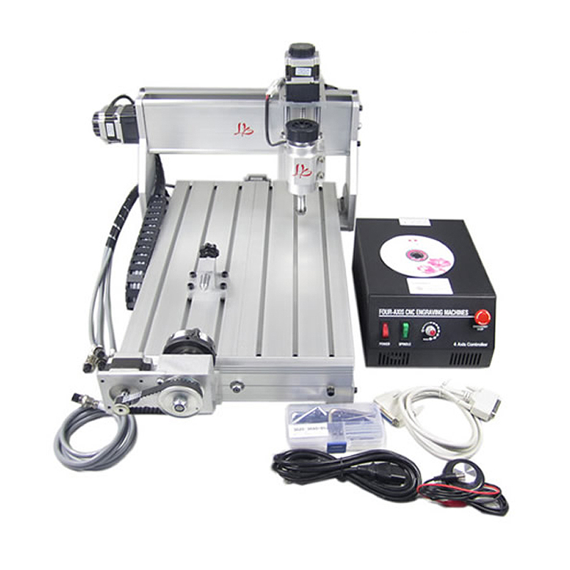 CNC 3040Z-DQ 4 axis mini cnc router with tool auto-checking instrument 4th rotation axis for 3d cnc