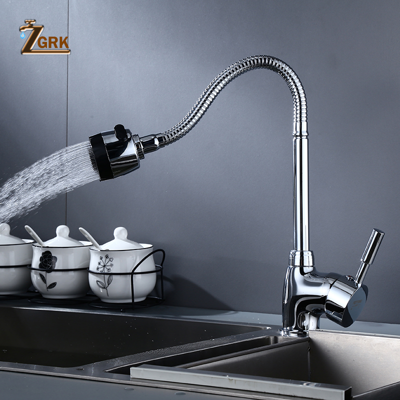 ZGRK Kitchen Faucets Free Adjusting Nozzle Sink Crane Swivel Faucet Mixer Tap Function Hot and Cold Water Taps|Kitchen Faucets| - AliExpress