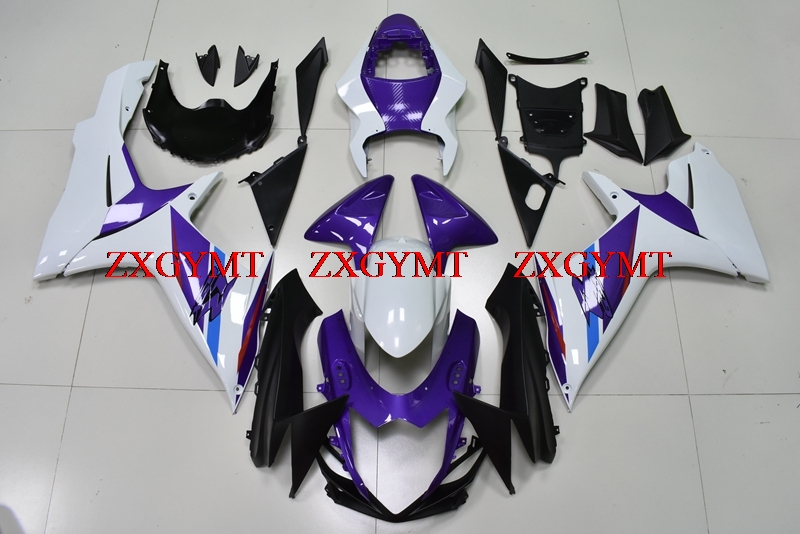 Motorcycle Fairing for GSX R 750 2011 - 2017 K11 Fairing Kits GSX-R750 11 12 White purple Fairing Kits GSX R 750 13 14Motorcycle Fairing for GSX R 750 2011 - 2017 K11 Fairing Kits GSX-R750 11 12 White purple Fairing Kits GSX R 750 13 14
