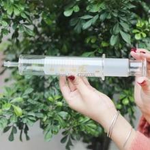 Jeringa de vidrio para boquilla grande, tubo de aguja sin cabeza, pipeta de vidrio, pezón individual para inyección de glicerina, reutilizable, 30 50 100ml