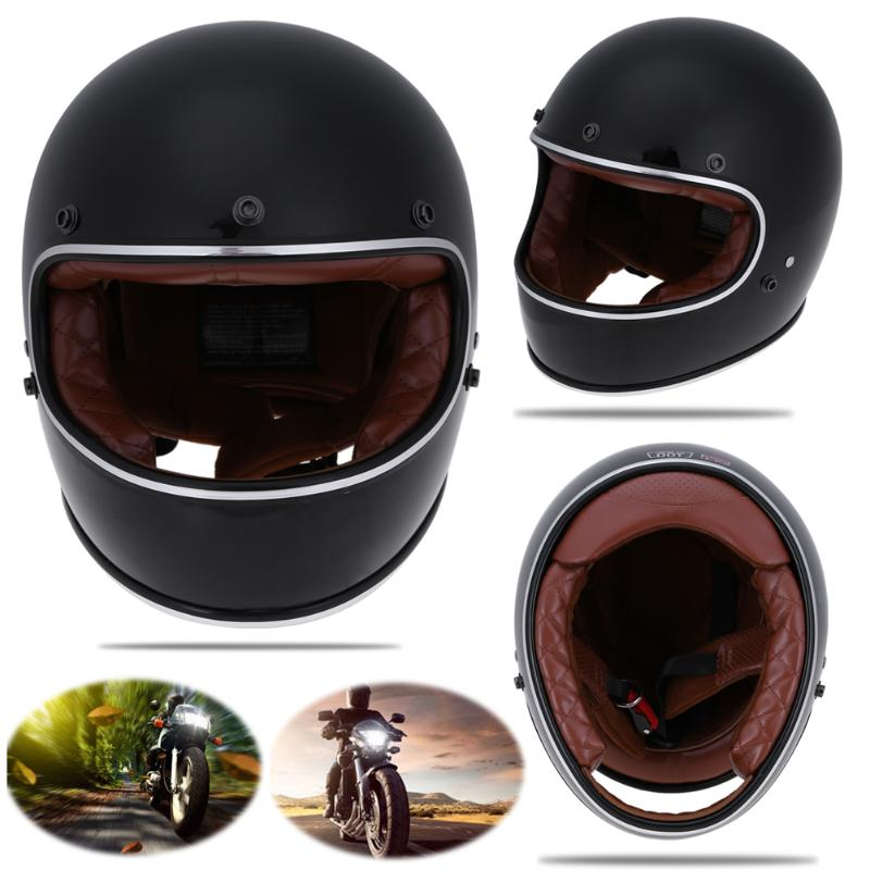 VODOOL Motorcycle Helmet Full Face Racing Motocross Helmet Off Road Vintage Motorbike Helmet Biker Head Protection Motor Hats