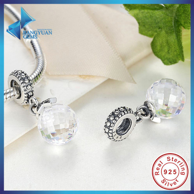 Venda quente Real 925 Sterling Silver Moon & Estrela, Midnight Blue Crystal & Clear CZ Charme Pingente Fit Pan Pulseira & Colar