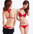 Nuevo 2016 sexy diseño de la forma Y correas reúnen sujetador sujetador de la ropa interior suave y secreto de las mujeres bajo la cintura lencería BS118