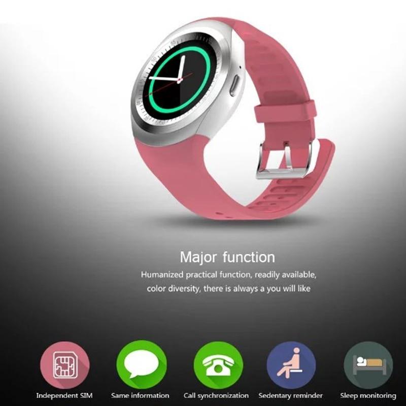 Suporte para relógio inteligente Nano SIM Card e TF Card Smartwatch PK Q18 M26 GT08 U8 Wearable Stock Electronics inteligente para iOS Android meanit m5