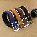 L201710 cinturón CON hebilla de correa de cuero de gamuza masculina lijar todo-fósforo pantalones casuales cinturón