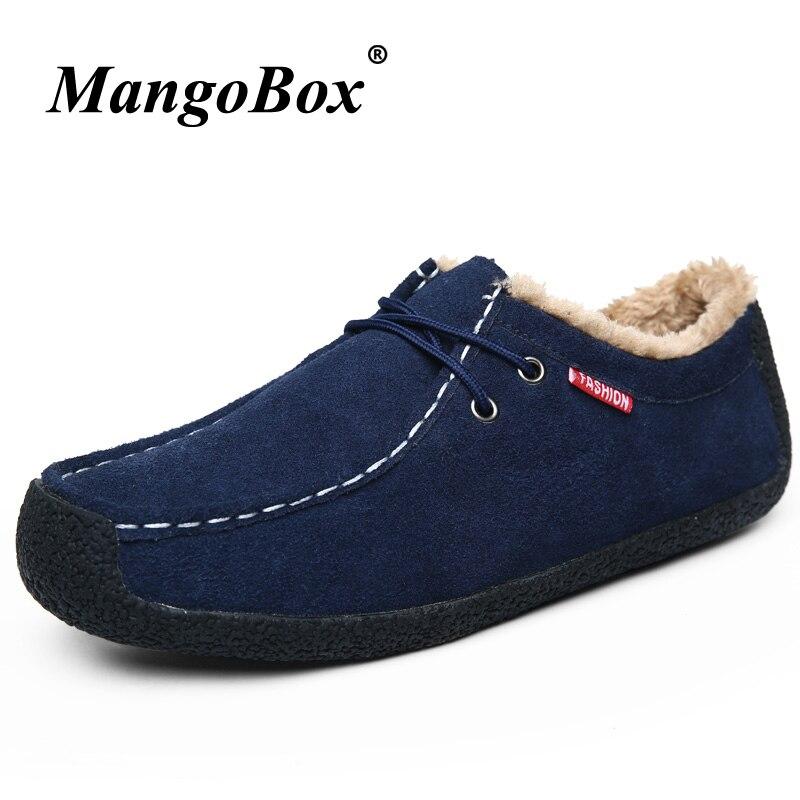 Winter Man Fur Casual Shoes Large Size 39 48 Mens Suede Shoes Brown Blue Walking Flat Footwear Non Slip Vintage Shoes for Men