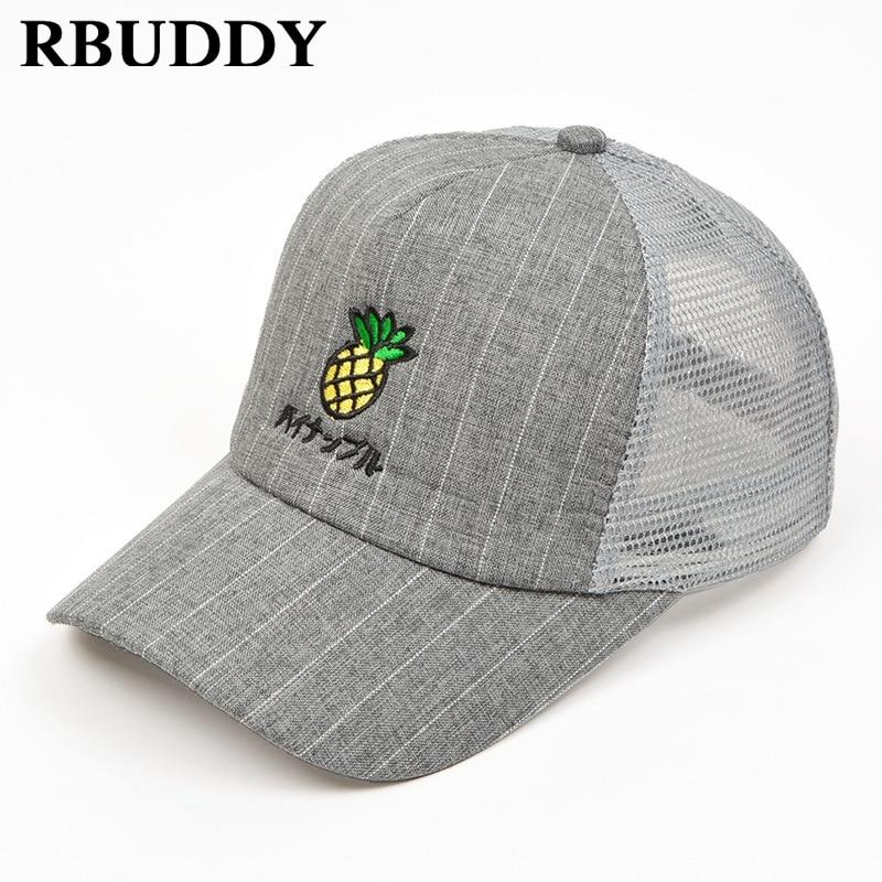 RBUDDY Cute 3D Pineapple Children Baseball Caps Hip Pop Streetwear Snapback  Summer Dad Hat for Boy Girl Gift Mesh Adjustable Hat-in Baseball Caps from  ... 6e37838b25c5