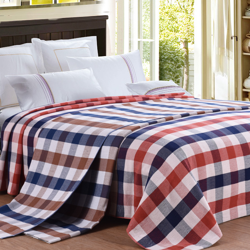 ФОТО 2017  MMY Brand  Plaid blanket -1PC 150*200cm 100% Cotton Blanket on the Bed Adult Bedding Set  for Spring/Summer cobertor