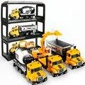 Novo Mini Escavadeira Liga Embalagem Da Caixa de Janela Do Carro 12 Estilo liga Modelos Brinquedos para Crianças Trem de Brinquedo Caminhão Cosmo Natal presente