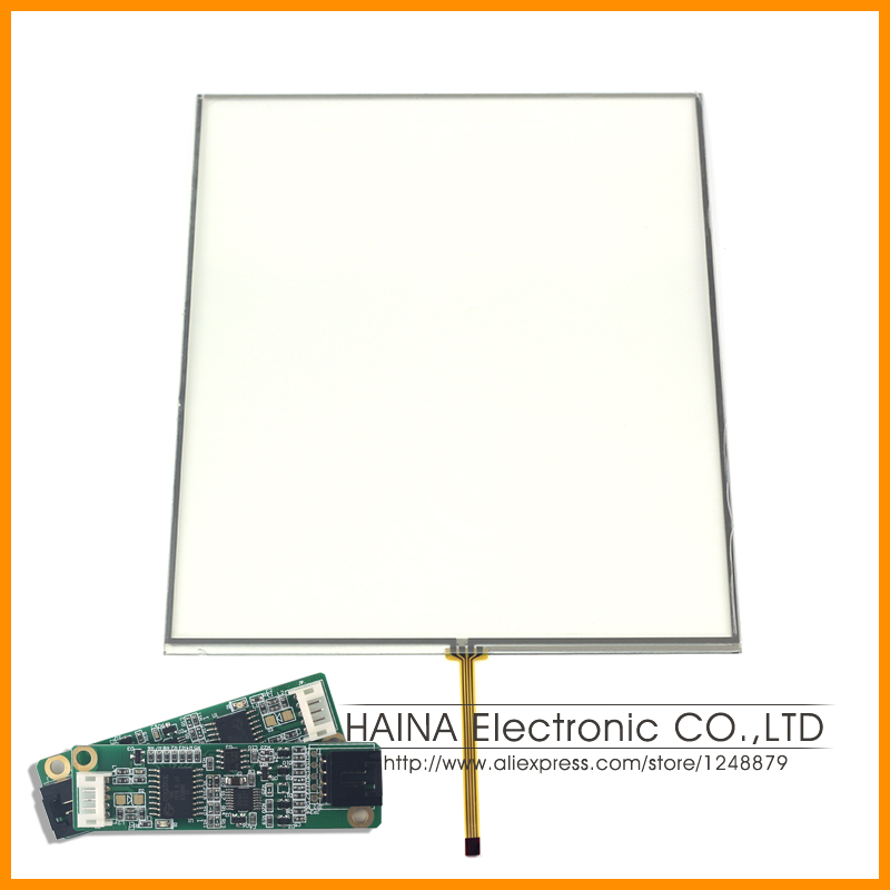 ФОТО 4:3 12 inch includes USB Controller 4 Wire Resistive Touch Screen Panel Mini Connector for Laptop / Industrial equipment