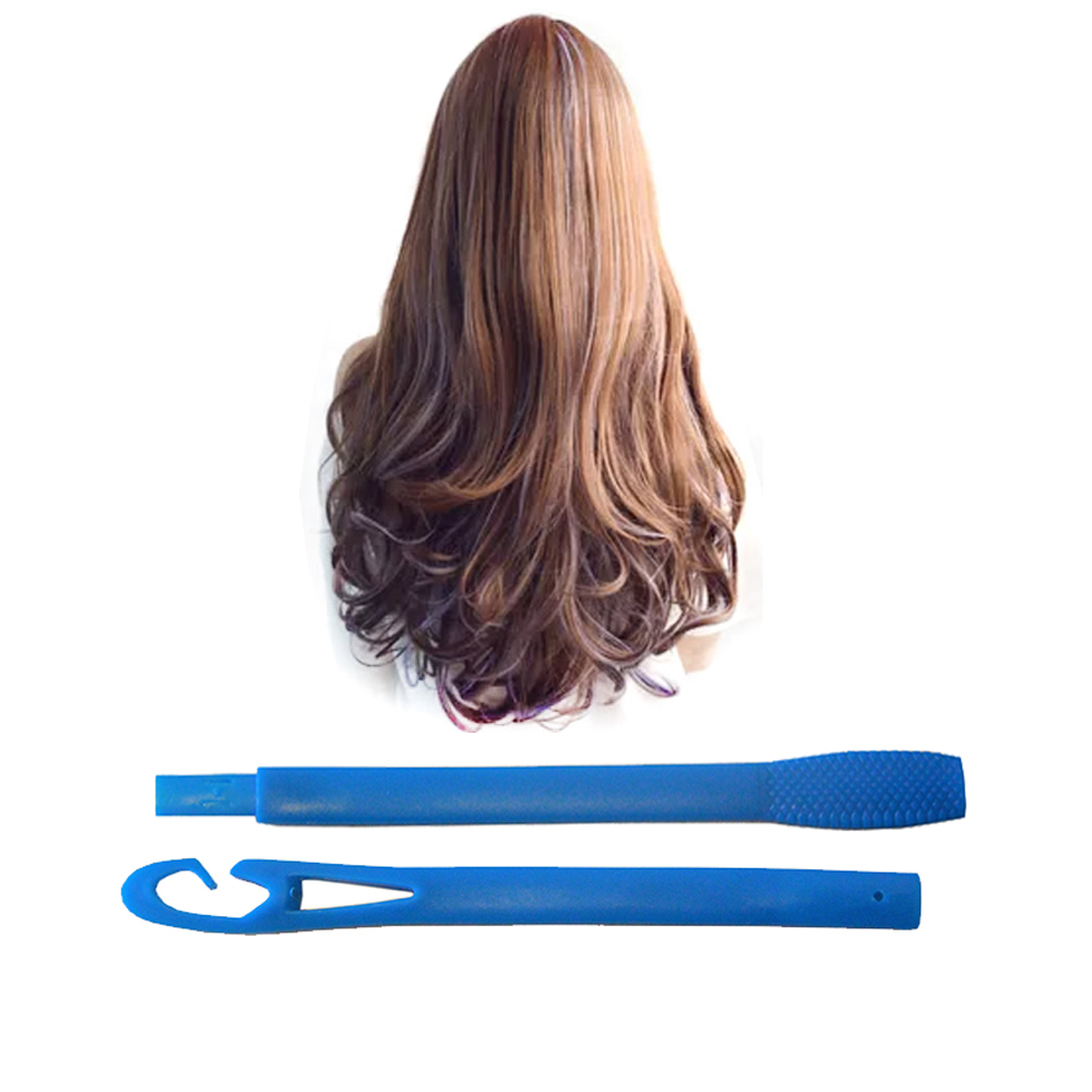 Women's wigs sale Curling Tools 50cm Long 12 Egg Rolls Plastic Hair Roll Water bigoudis Ripple Magical hair curlers rollers