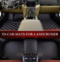 Car floor mats for Toyota Land Cruiser LC200/Prado LC120 LC100 LC150 FJ120 FJ150 Sequoia Tundra custom fit car carpets foot mats