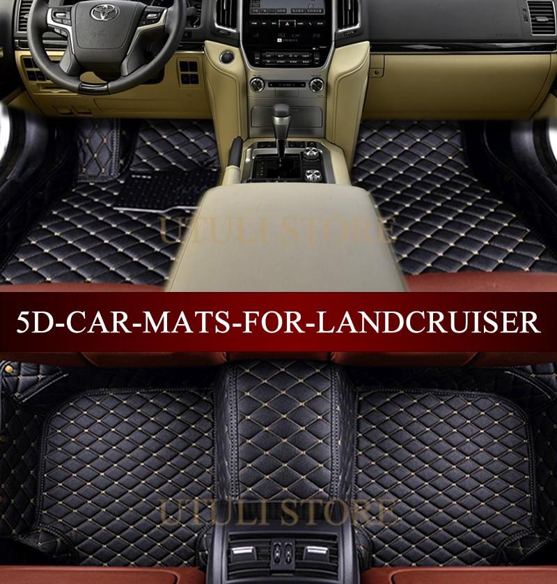 Tapis de sol de voiture pour Toyota Land Cruiser LC200/Prado LC120 LC100 LC150 FJ120 FJ150 Sequoia Tundra tapis de voiture sur mesure