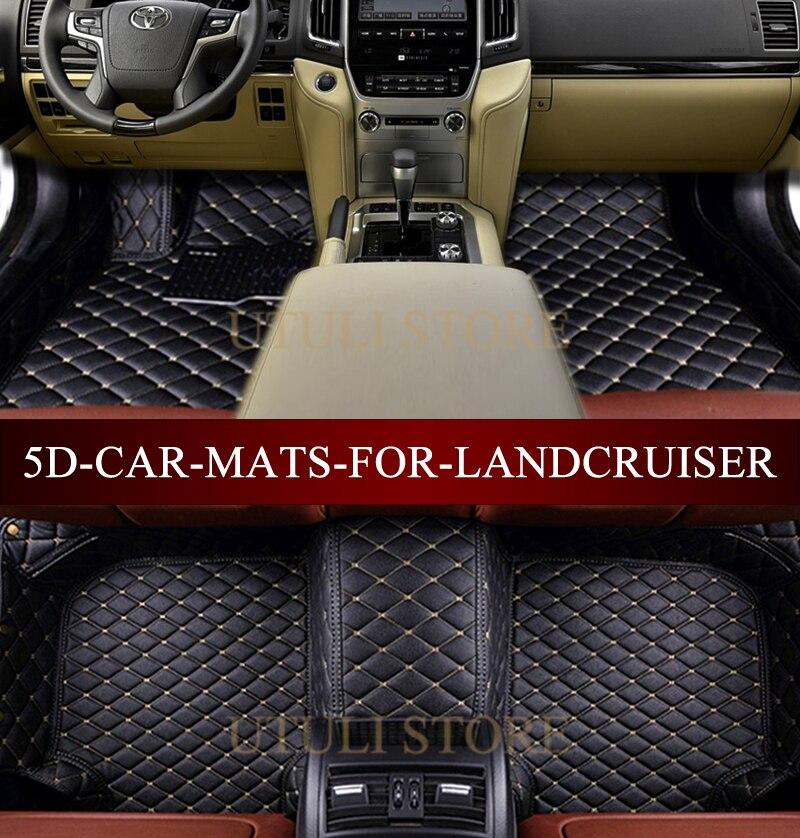 Tappetini auto per Toyota Land Cruiser LC200/Prado LC120 LC100 LC150 FJ120 FJ150 Sequoia Tundra custom fit auto tappeti tappetini