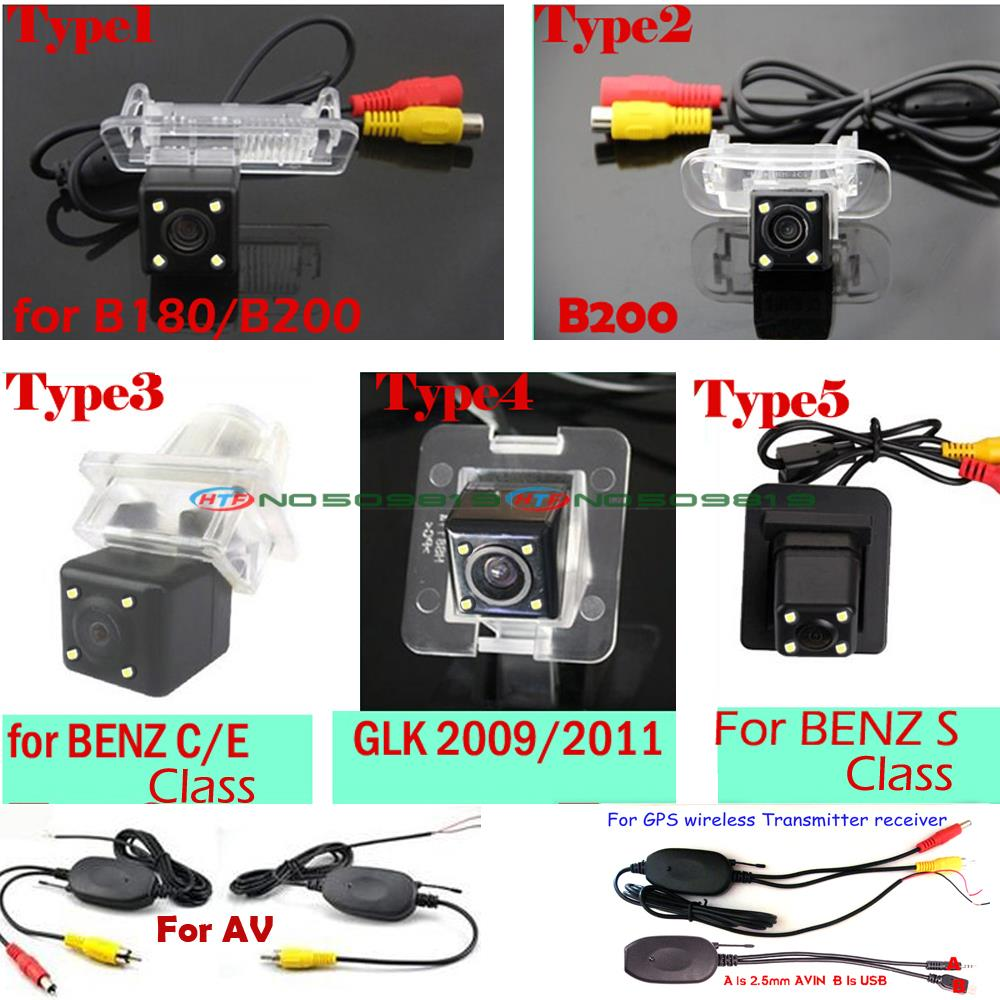wireless wire ccd HD 4 LEDS Car rear parking Camera Benz Mercedes C E S calass GLK B180 B200 CL W204 W212 W216 W221 W220 - Tittle's store