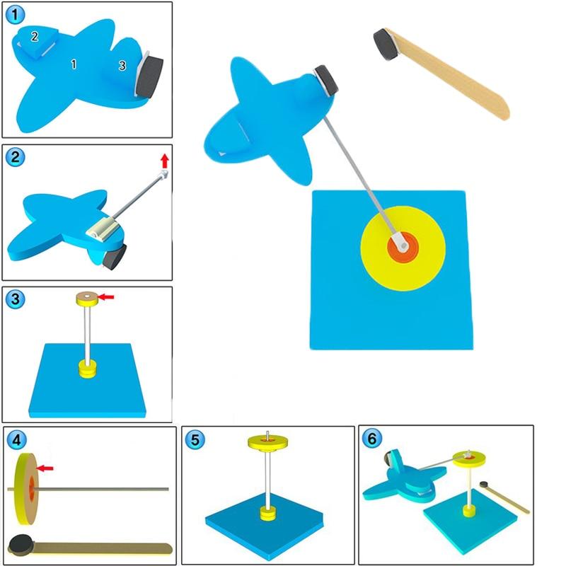 DIY поворотный магнит самолет Powered планер летящего самолета малыш/детская игрушка