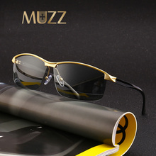MUZZ 2018 NEW Driving Polarized Photochromic Sunglasses Men Sun glasses Chameleon Discoloration Sun glasses for men UV400