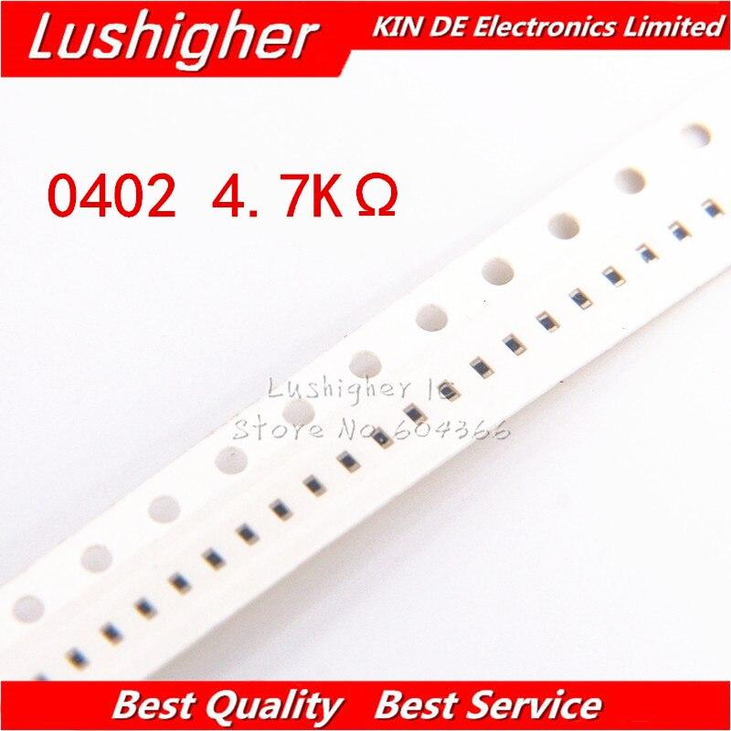 100PCS 0402 SMD Resistor 1% 4700ohm 472 4.7Kohm 4.7K Ohm
