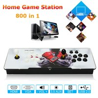 800 Games Home Multiplayer Arcade Game Console Kit Set Double Joystick HDMI VGA Interface Console With Pause Function