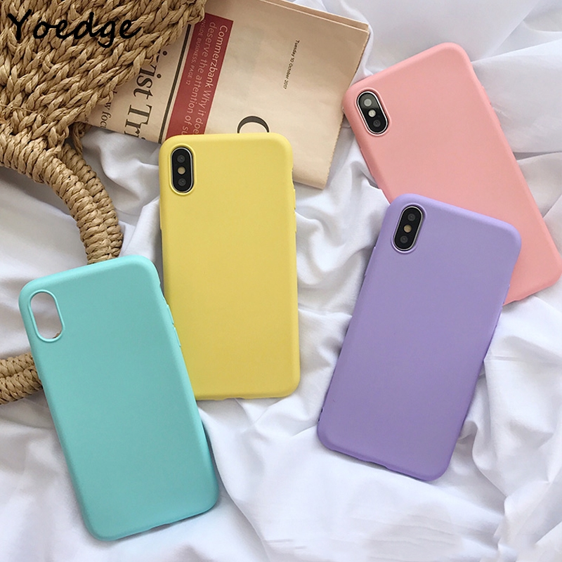 Macaron Color Matte Silicone Case For Coque iPhone X XR XS Max 7 8 6 6S Plus 5 5S SE TPU Soft Cover For iPhone 7 Plus Phone Case