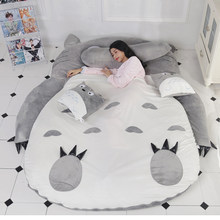 Totoro Tatami Sleeping Bed Double Adult And Kids Beanbag Sofa Bed Soft Warm Cartoon Totoro Tatami Sleeping Bag Mattress(China)