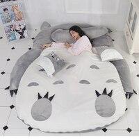 Totoro Tatami Sleeping Bed Double Adult And Kids Beanbag Sofa Bed Soft Warm Cartoon Totoro Tatami Sleeping Bag Mattress