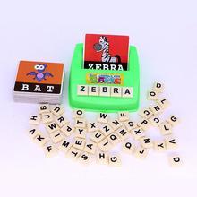 Английская орфография Алфавит Письмо игра для раннего развития игрушки Дети J6262