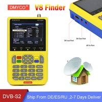 DMYCO V8 Finder Satellit Finder HD DVB S2 High Definition 3.5 inch LCD Sat Finder MPEG2 MPEG 4 satellite Finder V8 Free Shipping