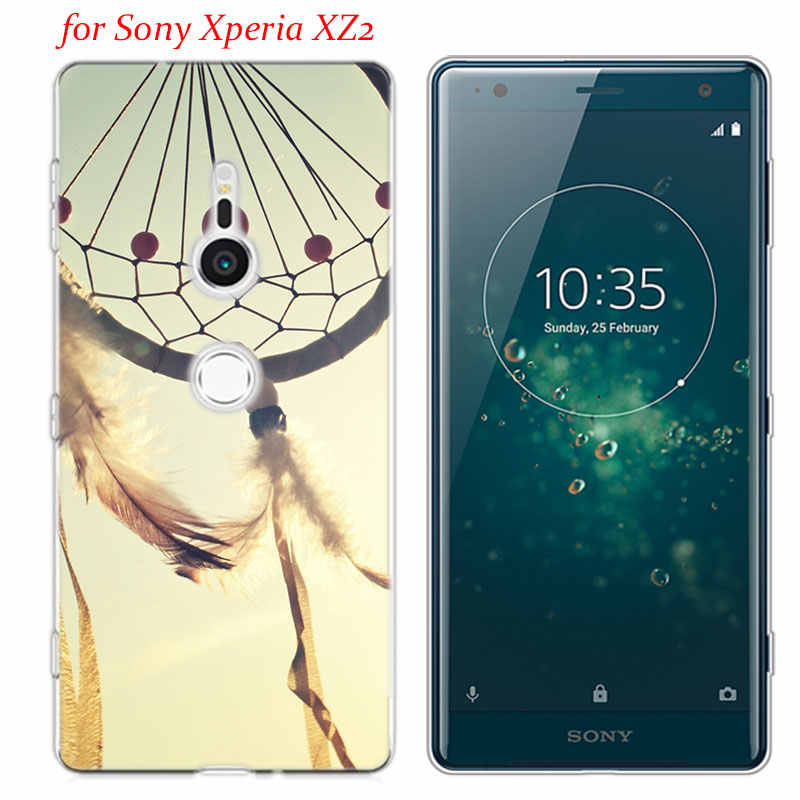 שקוף רך סיליקון טלפון מקרה חלום התפסן עבור Sony Xperia M5 E5 Z5 XA1 XA2 XZ1 XZ2 קומפקטי