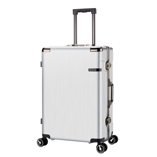 2535b8b4d743 US $139.95 10% OFF|20'' 24'' Aluminum Frame+PC Rolling Luggage Travel  Suitcase Bag,Men Trolley Case,Women Multiwheel Carry On,Universal wheel  Box-in ...