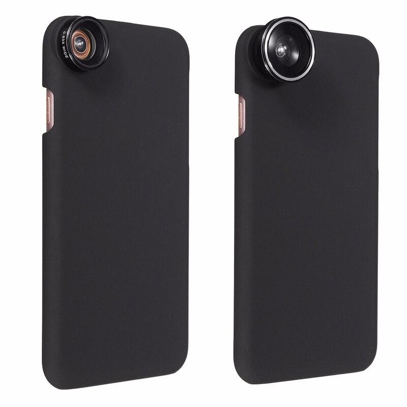 imágenes para 4.7 Pulgadas 5 En 1 Zoom 9X Teleobjetivo Macro Gran Angular 0.63X teléfono con cámara de lente de ojo de pez de 180 grados con la cubierta del caso para el iphone 7