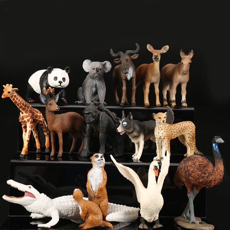 Kids Toys Action-Figure Animal-Model Christmas-Learning Educational for Boys Children