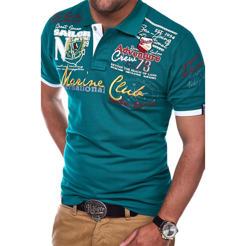Men Short Sleeve Polo Shirt Casual Shirts Slim Fit Cotton Men's Polo Shirt Hot Sale 5