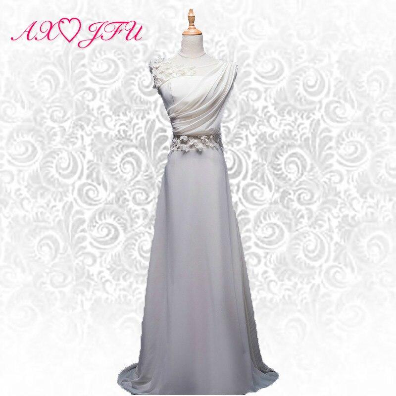 AXJFU Fiore di pizzo bianco Sposa abito da sera Costume Party principessa abito da sera nuovo 1821Q