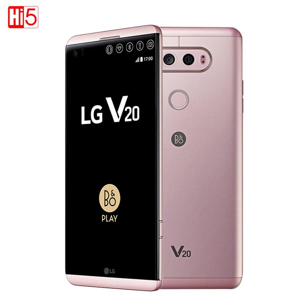 Débloqué LG V20 mobile téléphone 4 gb RAM 64 gb ROM Quad Core Snapdragon 820 5.7 ''16MP + 8MP caméra D'empreintes Digitales 4g LTE Téléphone Intelligent