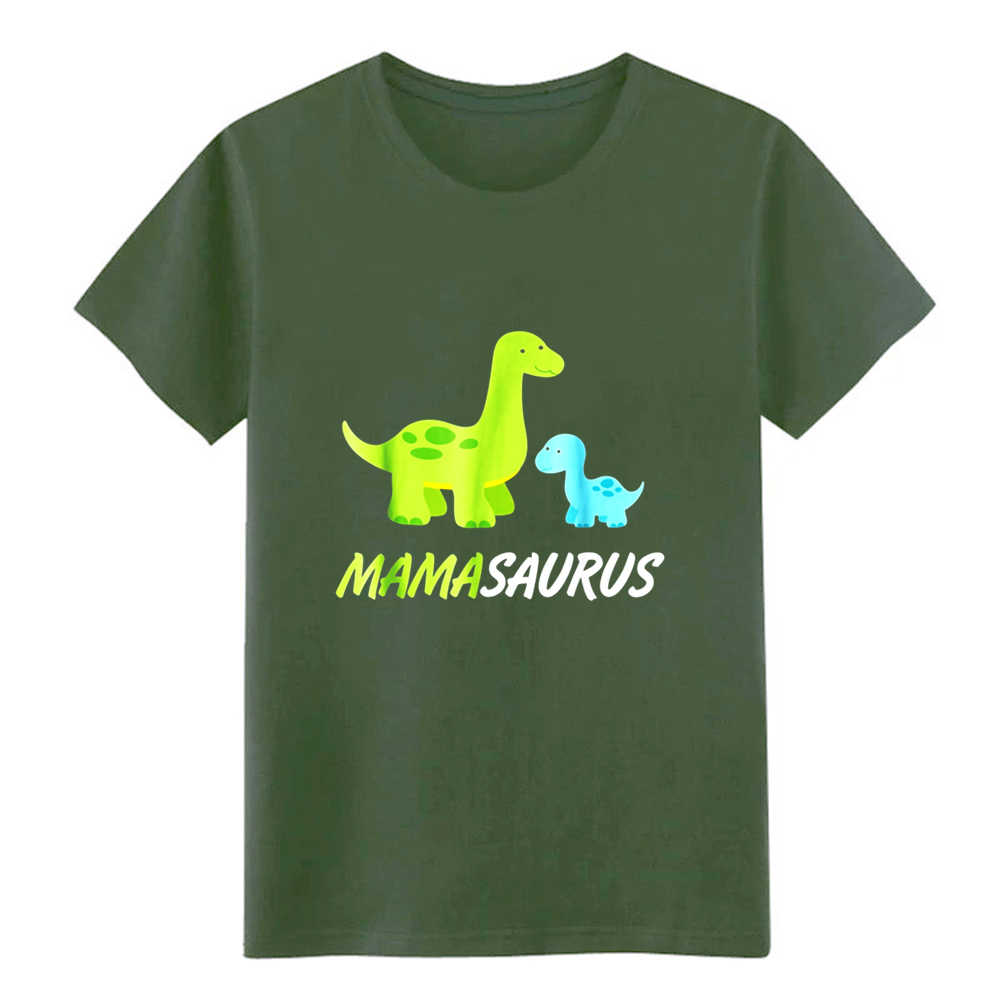Mamasaurus милая и милая мама семья Дино футболка для мужчин дизайн короткий рукав круглый воротник Солнечный свет повседневное летняя